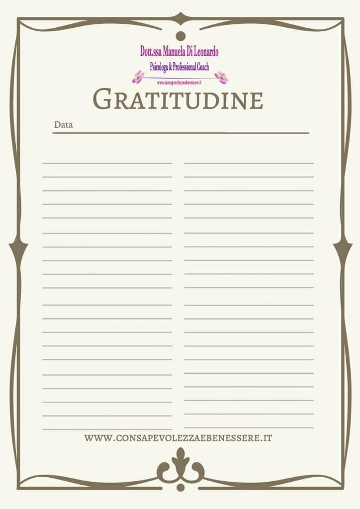 gratitudine, evitare l'infelicità